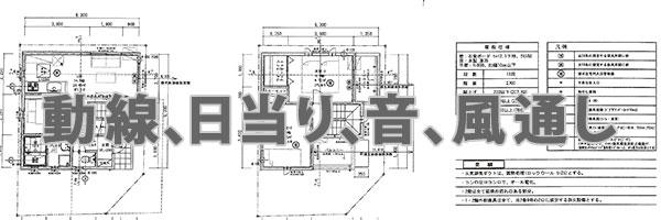 建売住宅の間取り図
