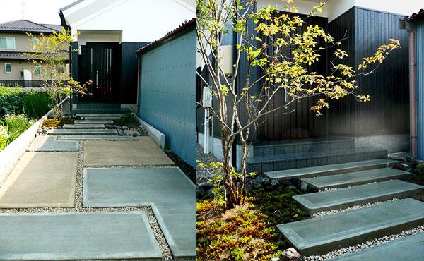 おしゃれなお庭画像、延長敷地