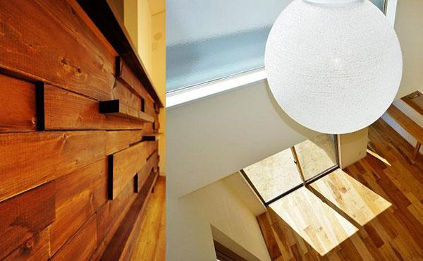 おしゃれな部屋画像、壁に木