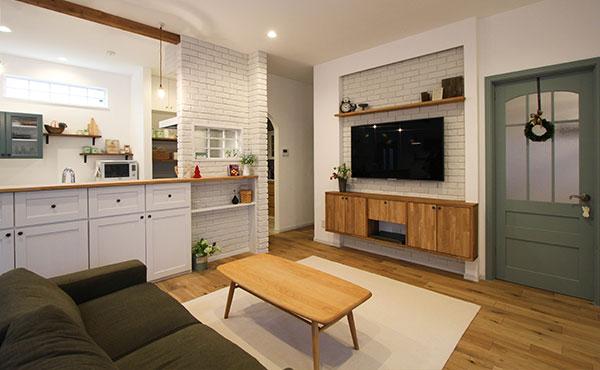 おしゃれな部屋画像、輸入住宅のLDK