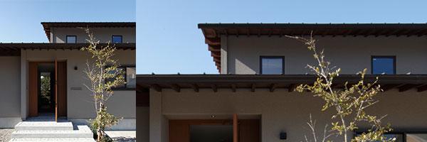 家の外観デザインと軒裏01